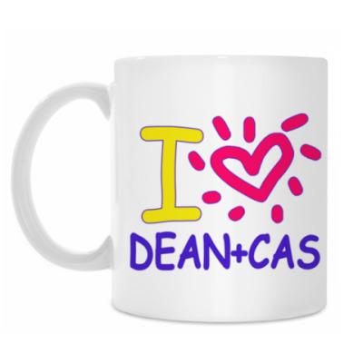 Кружка Supernatural - I love Dean+Cas