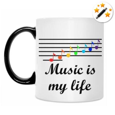 Кружка-хамелеон Music