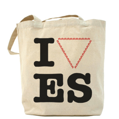 Сумка Холщовая сумка I love ES