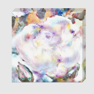 Холст Белая роза