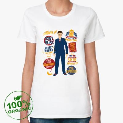 Женская футболка из органик-хлопка David Tennant- doctor
