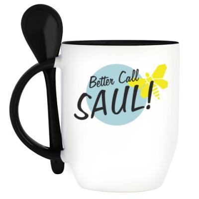 Кружка с ложкой Better Call Saul