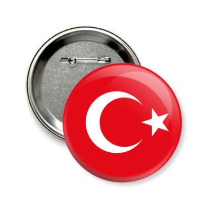 Значок 58мм Турция, Turkey