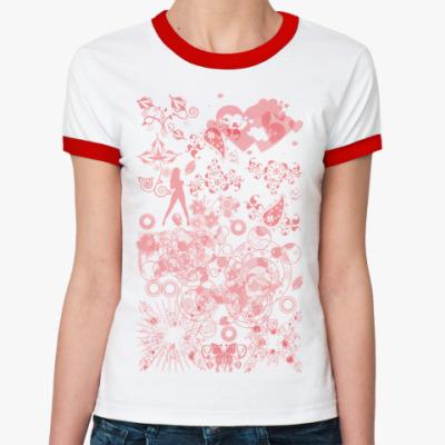 Женская футболка Ringer-T Жизнь