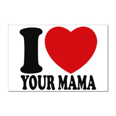 Наклейка (стикер) Люблю твою маму