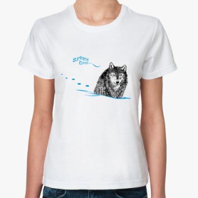 Классическая футболка  Жду лета!