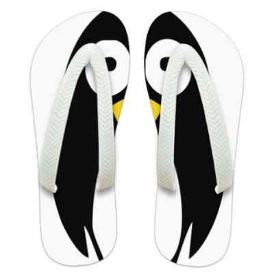 Шлепанцы (сланцы)  Милый пингвин