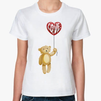 Классическая футболка Медведь с сердечком