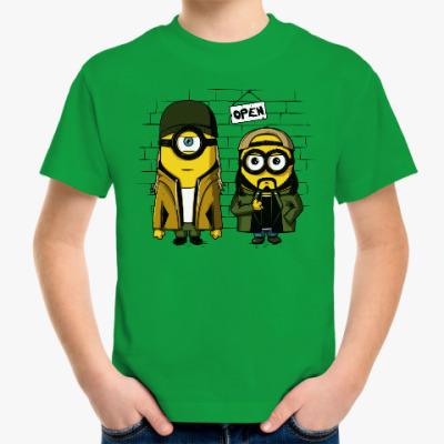 Детская футболка Миньоны Тусовщики