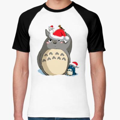 Футболка реглан Totoro's X-mas
