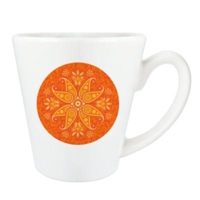 Оранжевый узор в круге