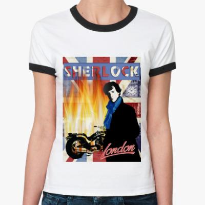 Женская футболка Ringer-T Sherlock Holmes