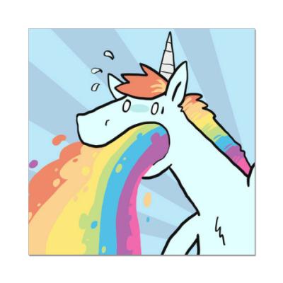 Наклейка (стикер) Unicorn (единорог)