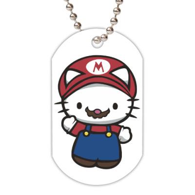 Жетон dog-tag Китти Марио
