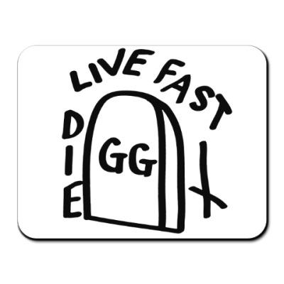 Коврик для мыши GG Allin: Live fast die