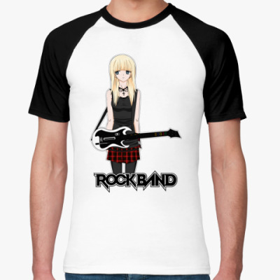 Футболка реглан 'Rock Band'