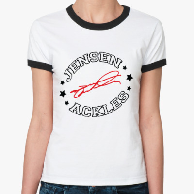Женская футболка Ringer-T Дженсен Эклз - Supernatural