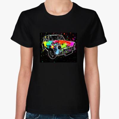 Женская футболка Мини Купер