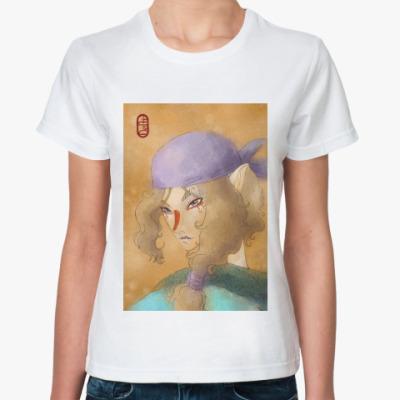 Классическая футболка   'Мононоке'