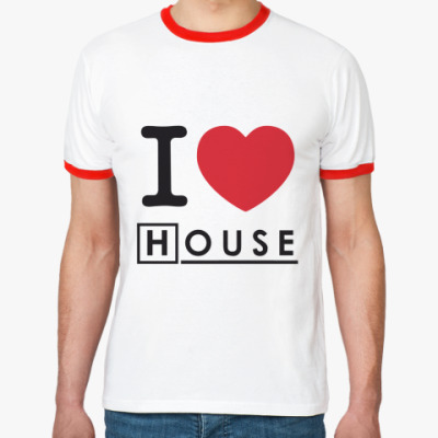 Футболка Ringer-T I heart House