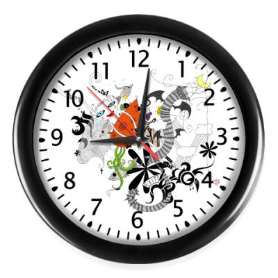 Настенные часы Белая Зайка