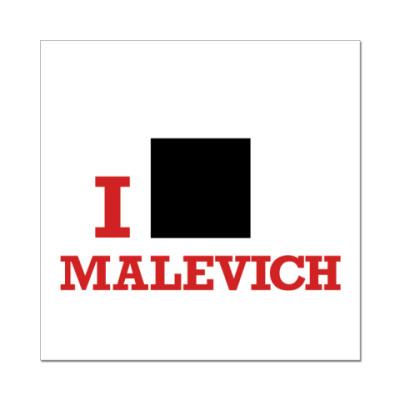 Наклейка (стикер)  8x8 Malevich кр.
