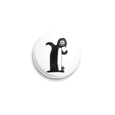 Значок 25мм пингвин
