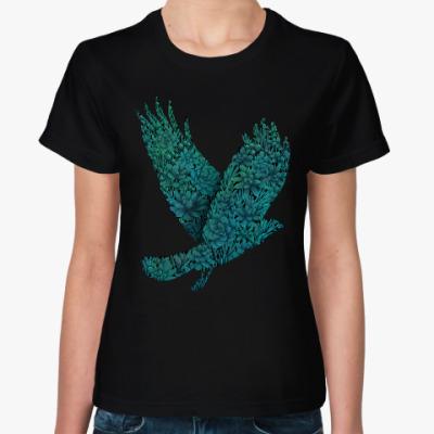 Женская футболка Птица