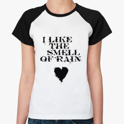 Женская футболка реглан  'Под дождем'