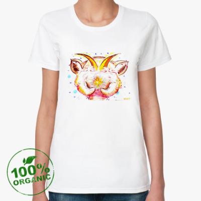 Женская футболка из органик-хлопка 'Звёздная коза'