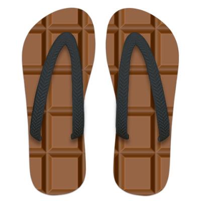 Шлепанцы (сланцы) Плитка шоколада