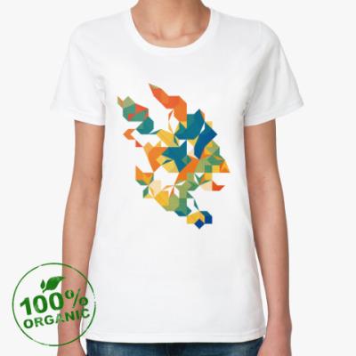Женская футболка из органик-хлопка Цитрус