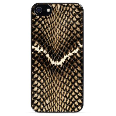 Чехол для iPhone Хищный дизайн, змеиная кожа