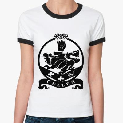 Женская футболка Ringer-T Cullen emblem