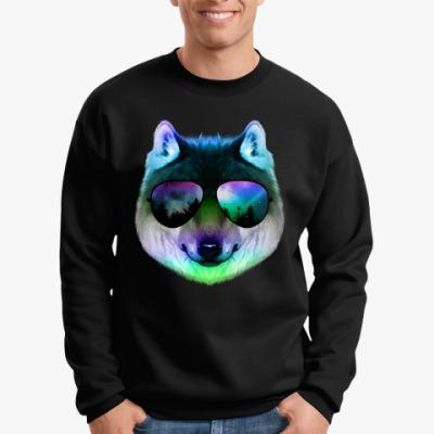 Свитшот Волк в очках