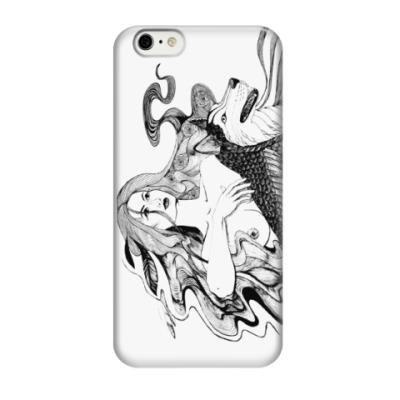 Чехол для iPhone 6 Девушка и волк