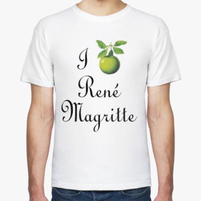 Футболка Я люблю Рене Магритта (яблоко)