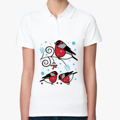 Женская рубашка поло Снегири