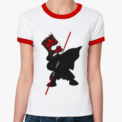 Женская футболка Ringer-T Барт Мол  Ж(б/к)