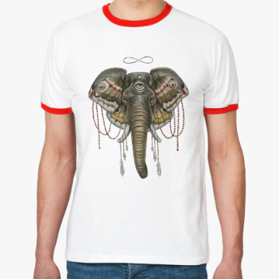 Футболка Ringer-T Индийский слон