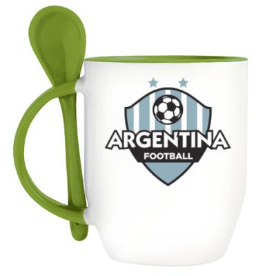 Кружка с ложкой Футбол Аргентины