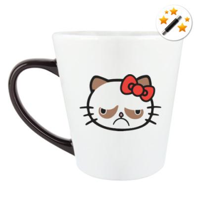 Кружка-хамелеон Hello Grumpy Cat