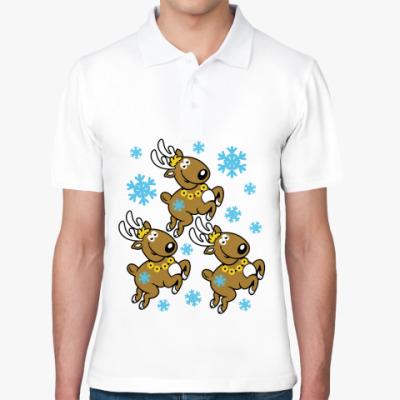 Рубашка поло Олени с бубенцами