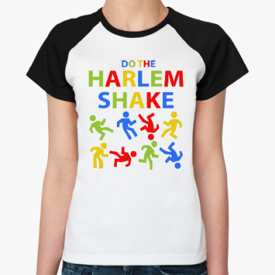 Женская футболка реглан Harlem Shake