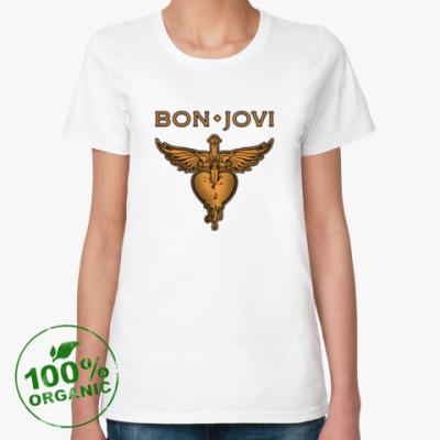 Женская футболка из органик-хлопка Bon Jovi