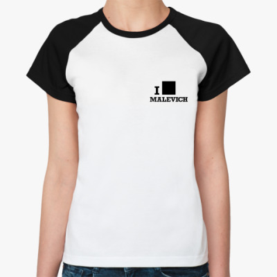 Женская футболка реглан  Malevich