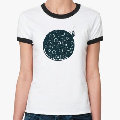 Женская футболка Ringer-T Casa de la Luna