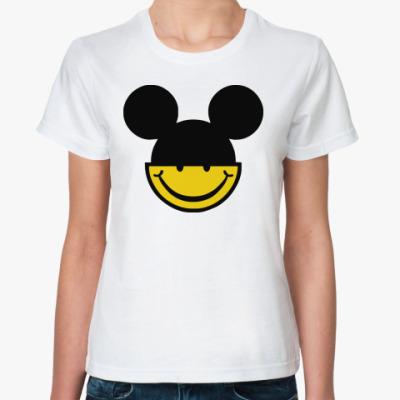 Классическая футболка  Mickey smile