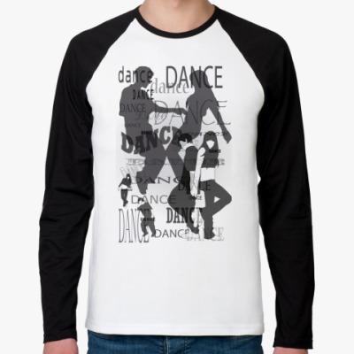 Футболка реглан с длинным рукавом DANCE