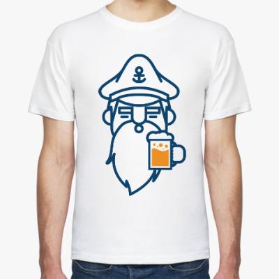 Футболка Капитан с пивом